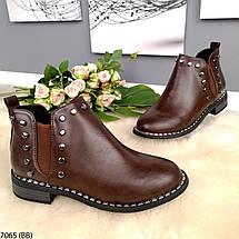 Демисезонные ботинки женские кожаные, фото 3