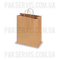Бумажный пакет с ручками 350х260х140мм Крафт 100шт.
