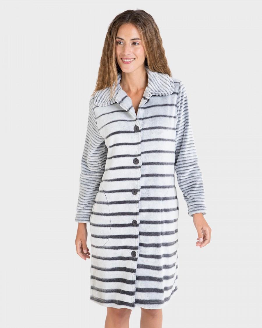 Женский теплый халат на пуговицах Massana L706224 Испания