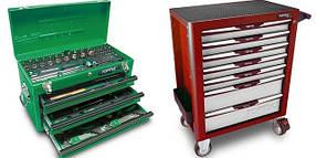 Тележки, ящики с наборами инструментов