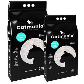Бентонитовый наполнитель для котов CATMANIA марсельское мыло + бирюзовые гранулы,  5л