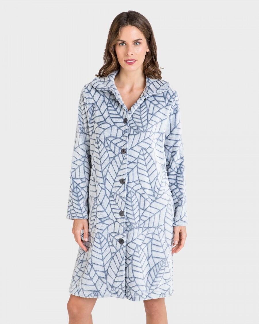 Женский теплый халат на пуговицах Massana L706227 Испания