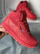 Зимние новые красные кроссовки, ботинки на меху