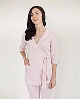Женский медицинский костюм из стрейч-коттона цвет пудра