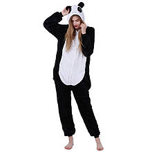 Кигуруми для взрослых Снежная панда, пижама кигуруми панда снежная