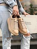Женские кроссовки Alexander Mcqueen бежевые (копия), фото 4