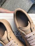 Женские кроссовки Alexander Mcqueen бежевые (копия), фото 5