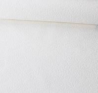 Обои рулонные 53 см х15 м Белые для стен и потолка рельефные без рисунка Виниловые на бумажной основе
