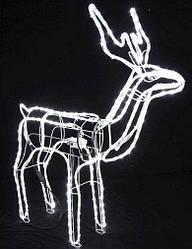Олень світиться 95 см білий поворот голови