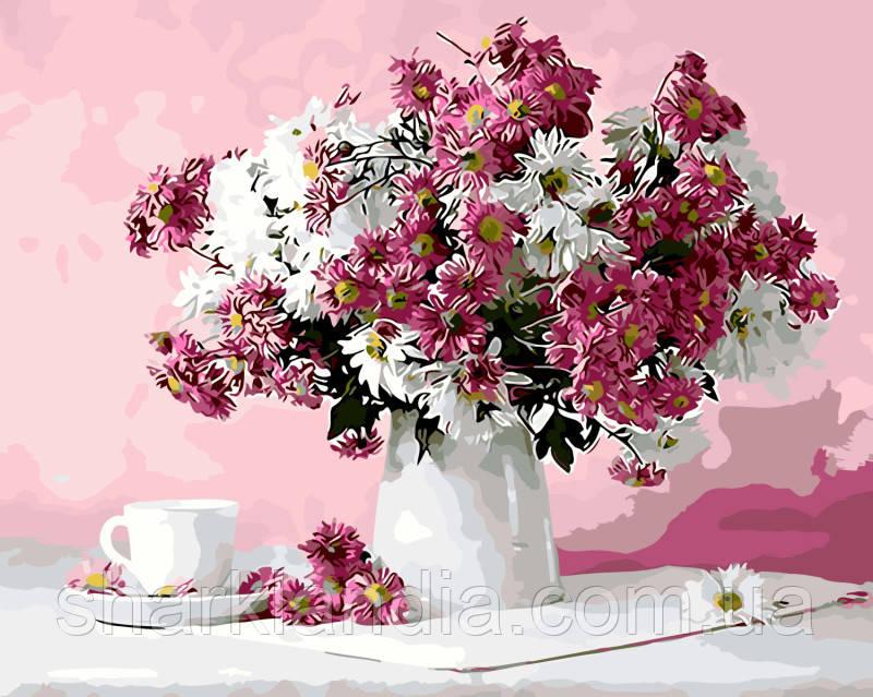 "Картина по номерам Brushme. ""Натюрморт в розовых тонах"" GX8746"
