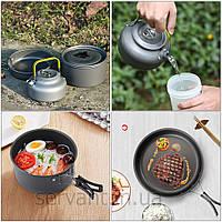 Кухонная походная посуда с чайником DS-308