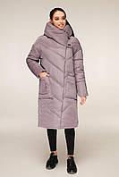 Зимова куртка подовжена з накладними кишенями з об'ємним коміром-капюшоном з 44 по 54 розмір, фото 10