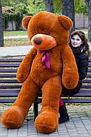 Большой плюшевый мишка 200 см, коричневый мягкий медведь, подарок для девушки на день рождения