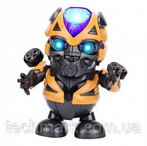 Интерактивная игрушка танцующий супер герой робот трансформер Бамблби Sunroz DANCE HERO ROBOT BUMBLEBEE