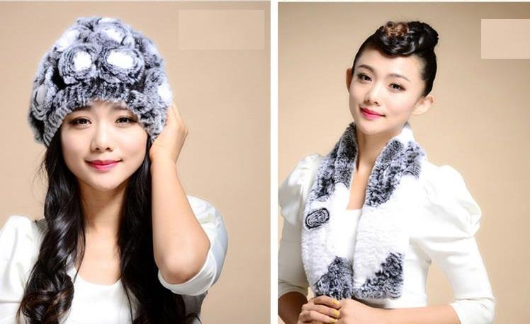 Женская меховая шапка+шарф ALISE ll0506