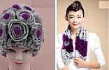 Женская меховая шапка+шарф ALISE ll0506, фото 3