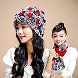 Женская меховая шапка+шарф ALISE ll0506, фото 4