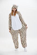 Кигуруми пижама Леопард для взрослых, пижама кигуруми Леопард