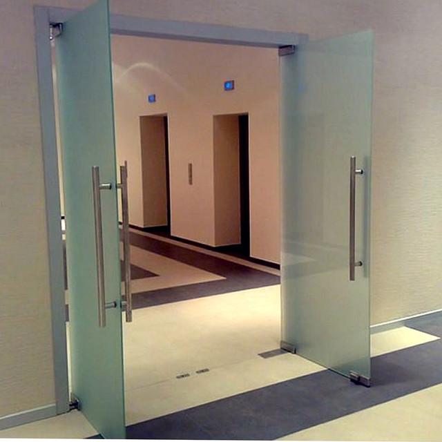 Скляні маятникові двері