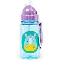 Детская бутылочка поильник Skip Hop Скип Хоп Единорог, с трубочкой