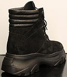 Ботинки высокие женские зимние замшевые от производителя модель УН520, фото 5