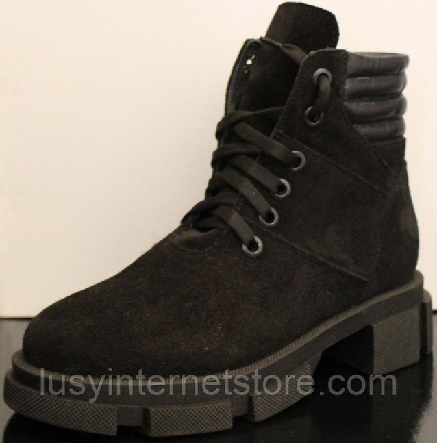 Ботинки высокие женские зимние замшевые от производителя модель УН520