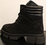 Ботинки высокие женские зимние замшевые от производителя модель УН520, фото 4