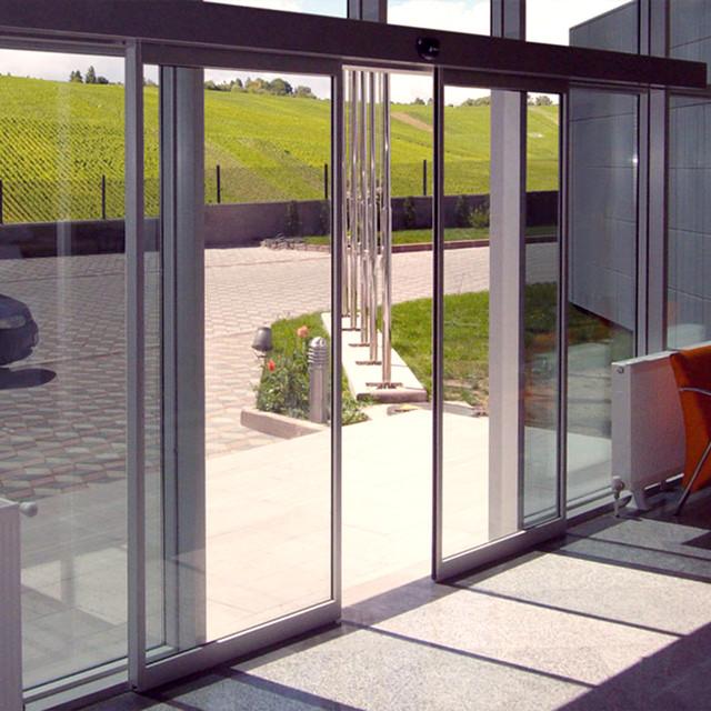 Скляні розсувні автоматичні двері