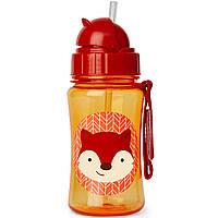 Детская бутылочка поильник Skip Hop Скип Хоп Лисичка, с трубочкой
