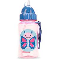 Детская бутылочка поильник Скип Хоп Бабочка Skip Hop Butterfly, с трубочкой