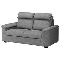 ЛІДХУЛЬТ 2-місний диван - ЛЕЙДЕ сірий/чорний - IKEA