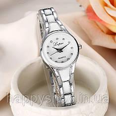 Жіночий кварцевий годинник на сталевому браслеті LVPAI (Сріблясто-білий)