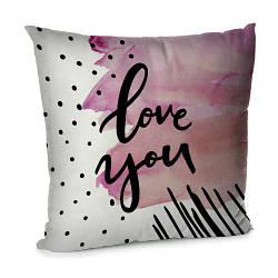 Подушка диванна з оксамиту Love you 45x45 см (45BP_18L035)