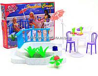 Детская игрушечная мебель Глория Gloria для кукол Барби Бассейн 9879. Обустройте кукольный домик, фото 1