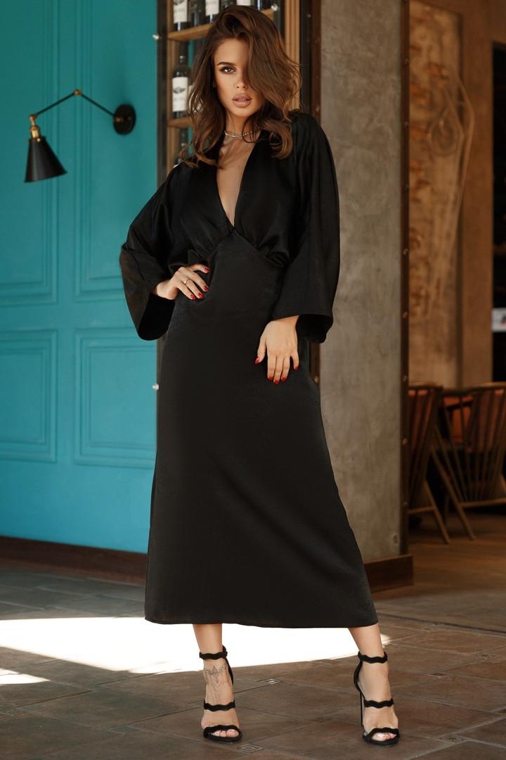 Женское длинное шелковое платье.Размеры:42,44,46.+Цвета