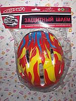 Детский защитный шлем MS0014 красно-сине-желтый