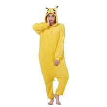 Кигуруми Пикачу для взрослых, пижама кигуруми Пикачу