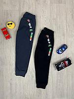 Спортивные штаны с начесом для мальчика скейт 110-140 рост турция