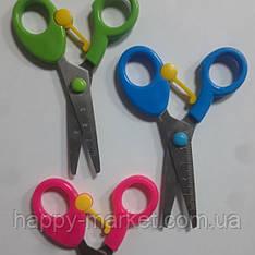 Ножиці дитячі № KD 7010 з відбійником, лінійкою (24уп)