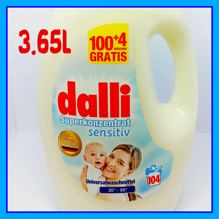 Гель для стирки детского белья Dalli Далли superkonzentrat sensetive (104 стирок 3,65л)