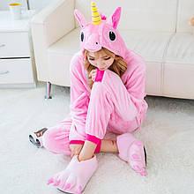 Кигуруми для взрослых Единорожка розовый, пижама кигуруми Единорожка розовый