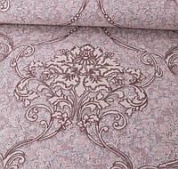 Обои Виниловые на флизелиновой основе 106 см х 10 м Бордовые с коричневым, рисунок, спальня, зал