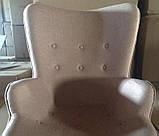 Крісло Флорино з пуфом коричневий кашемір СДМ група, фото 4