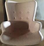 Крісло Флорино з пуфом коричневий кашемір СДМ група, фото 5