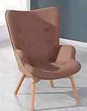 Крісло Флорино з пуфом коричневий кашемір СДМ група, фото 8