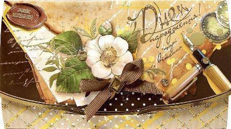 Упаковка поздравительных конвертов для денег ручной работы - С Днем Рождения/ З Днем Народження №КР6 - 5шт, фото 2