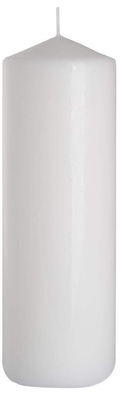 Декоративная свеча цилиндр BISPOL - Белая №SW80/250-090