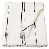 СТІНАМАЙ Плед - білий/темно-сірий - IKEA