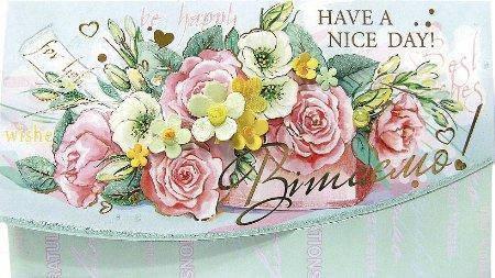 Упаковка поздравительных конвертов для денег ручной работы - Поздравляю/ Вітаю №КР10 - 5шт, фото 2