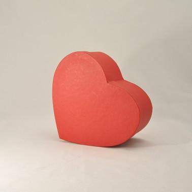 Коробка сердце 25*20*6см красная эфалин